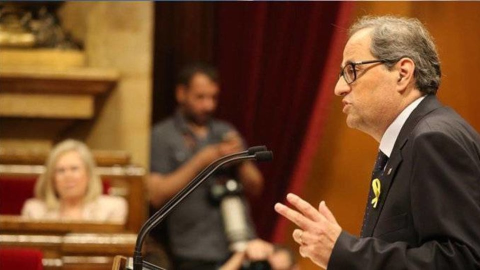 Torra interviene ante el Parlament (E.D.)