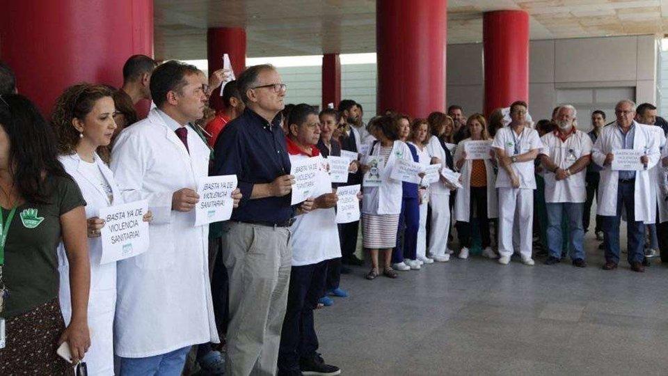 Última concentración contra las agresiones sanitarias (ARCHIVO)