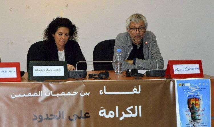 Antonio Sempere, a la derecha, durante su intervención en la jornada