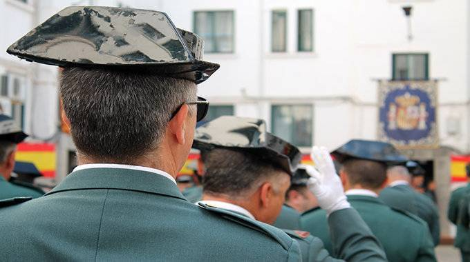 Agentes de la Guardia Civil durante las celebraciones del Día del Pilar (C.A./ARCHIVO)
